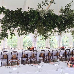 Bowral florist, Foliage installation, foliage chandelier, wedding wow factor