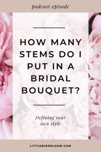 how many stems are in a bridal bouquet