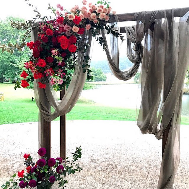 beautiful wedding archway bendooley estate