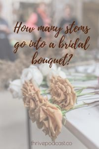 how many stems go into a bridal bouquet