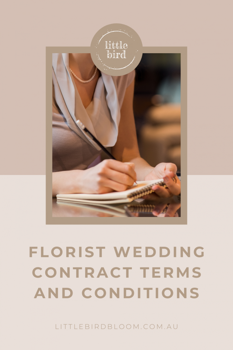Florist Wedding Contract Terms and Conditions