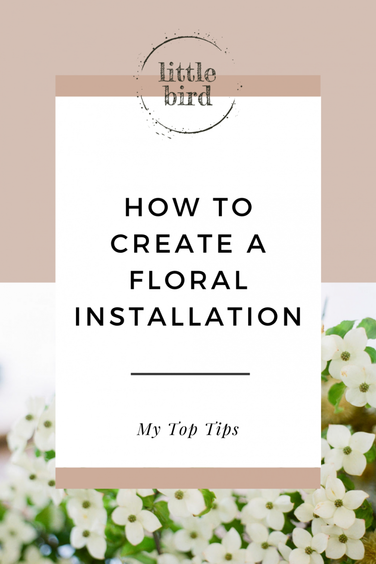 how to create a foliage or floral installation tips and tricks