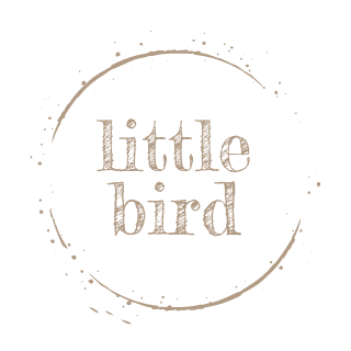 this is little bird bloom logo gold