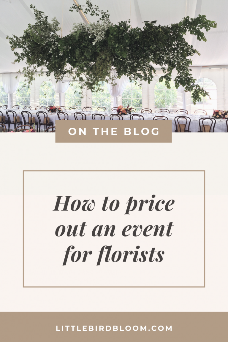 Blog Post –how to price out an event for florists