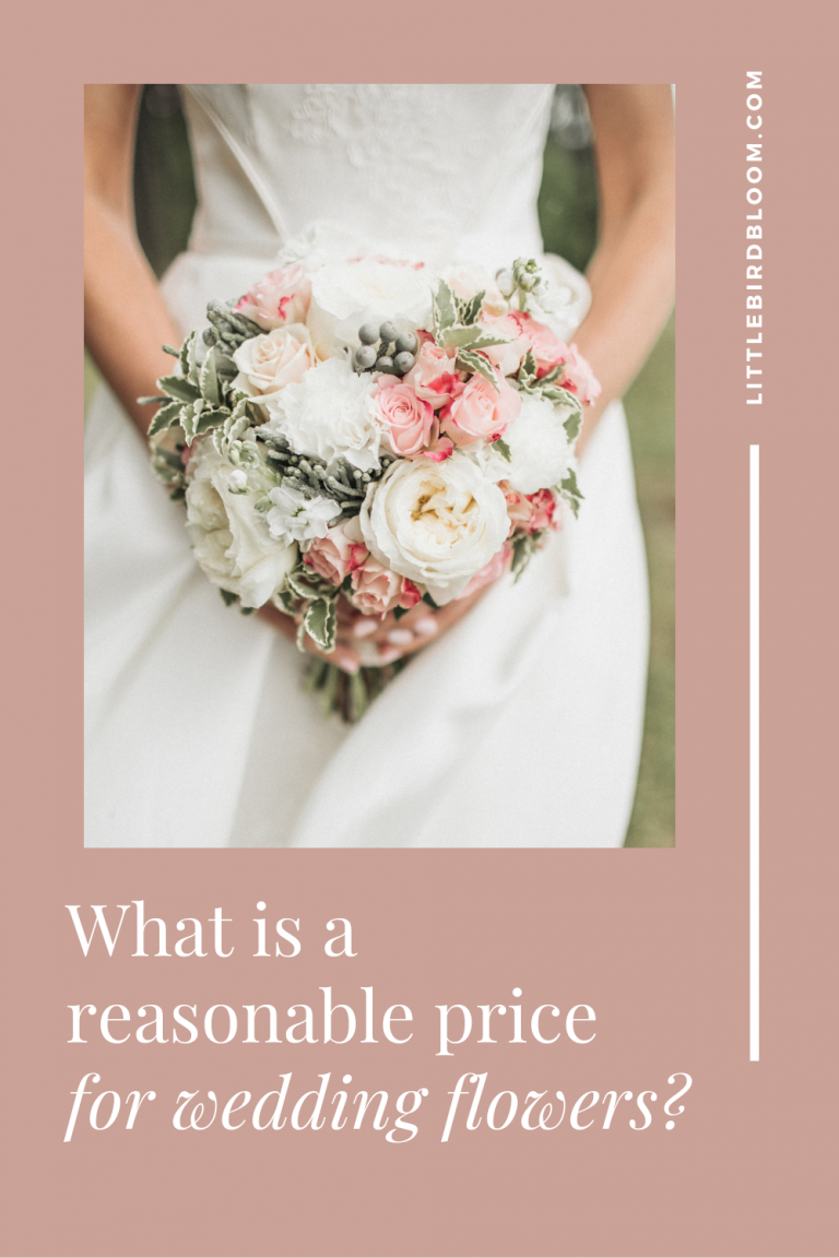 What is a reasonable price for wedding flowers?