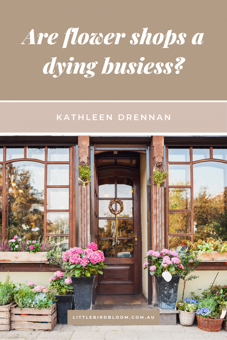 Are flower shops a dying business?